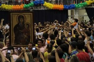 Símbolos da JMJ foram acolhidos pela juventude da Arquidiocese de Florianópolis (SC)