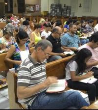 Participantes da Escola de Teologia nas paróquias de Maringá