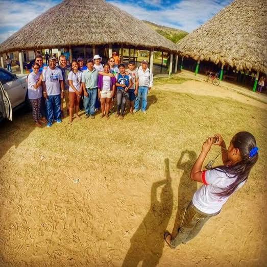 Encontro dos jovens com os índios Macuxis