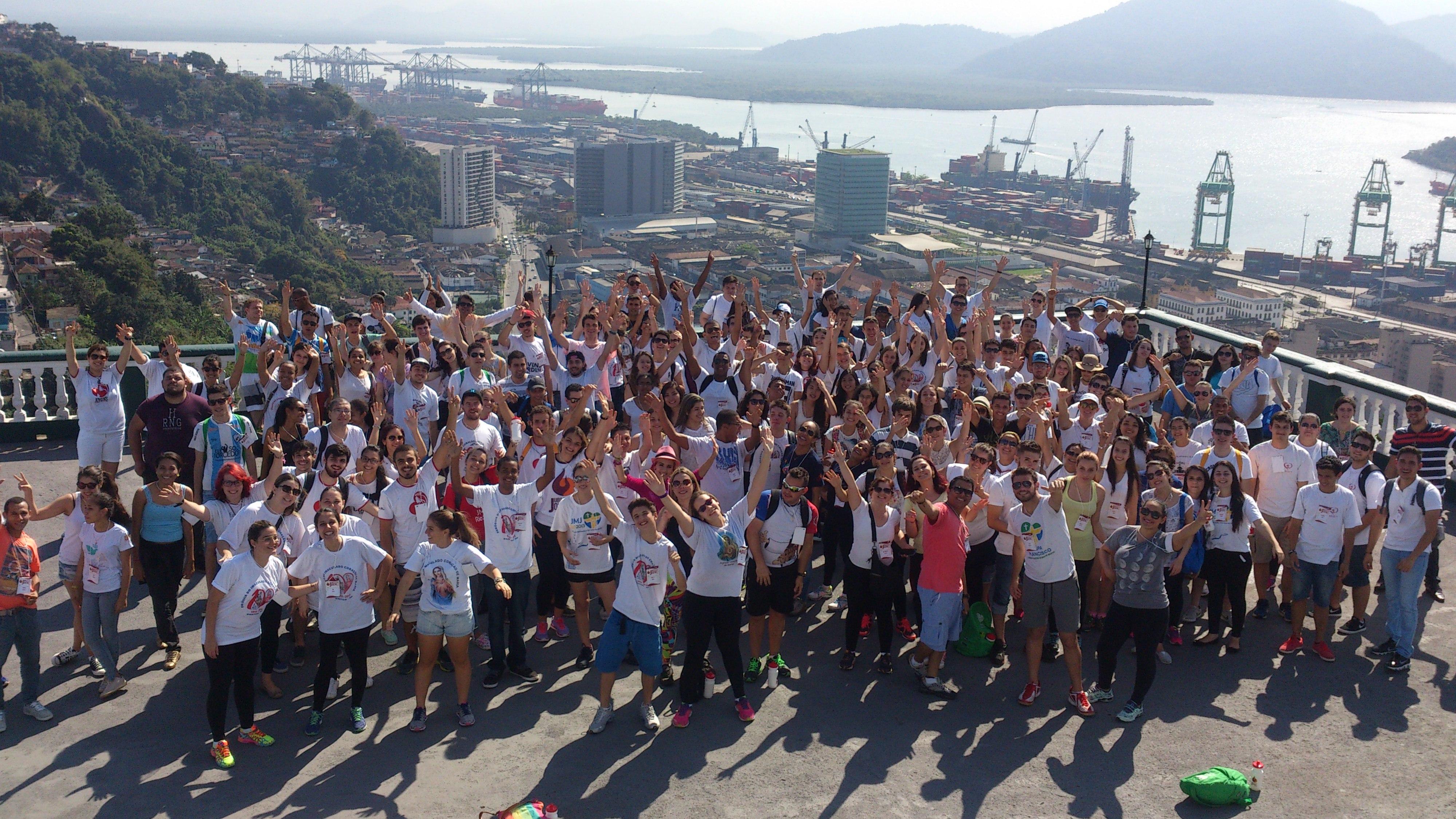 Juventude Claretiana de várias partes do Brasil reunida em Santos (SP)