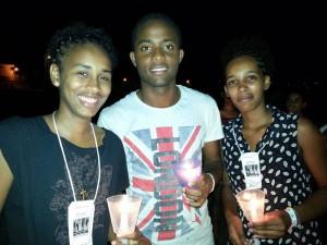 Jovens de Cabo Verde participantes do acampamento. Foto: Anderlon Mendes.