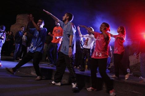 Os jovens não pararam de dançar na Cristoteca