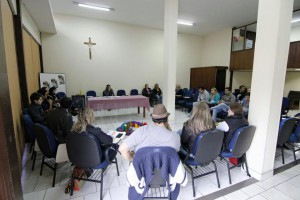 Reunião de preparação com os organizadores do evento.
