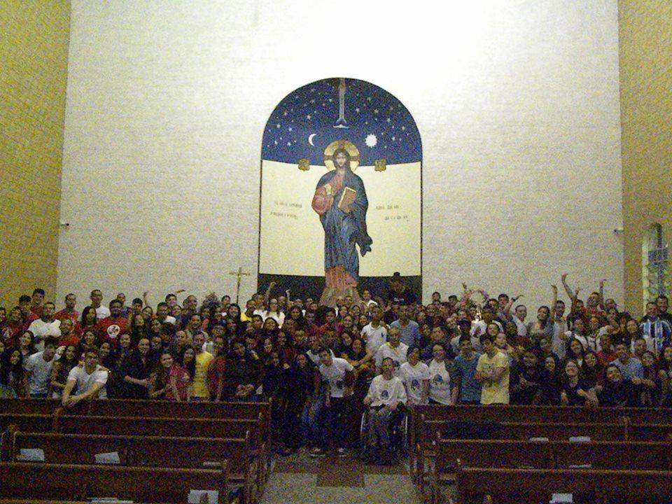 Juventude reunida no DNJ da diocese de Guarulhos
