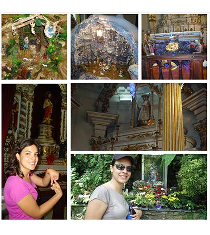 A cada imagem de Nossa Senhora, uma foto para marcar a lembrança da amiga secreta